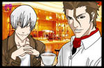 Ichimaru Gin and Aizen Sosuke
