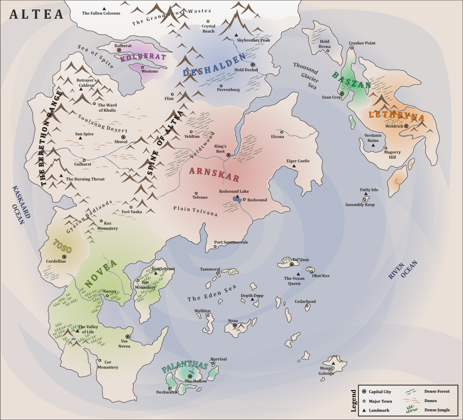 Map of Altea v2 by Croxot on DeviantArt
