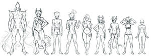 OC Height/Physique Chart - Sketch