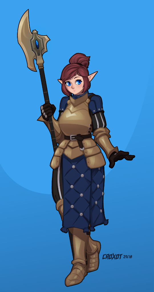 Commission - Nora, Armored by Croxot