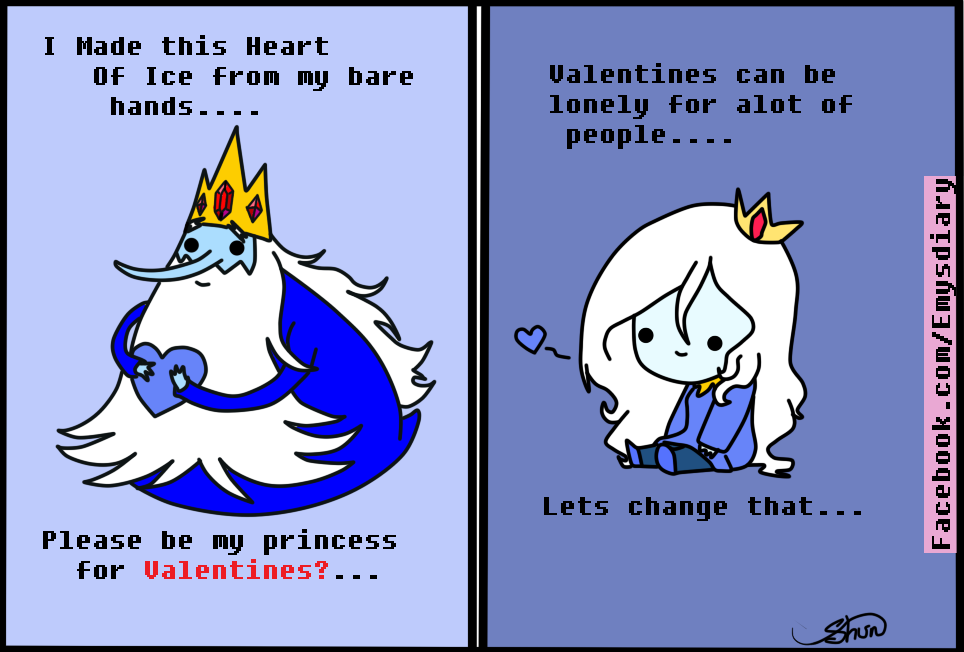 Valentines Card Ice King and Queen by EmilysDiary