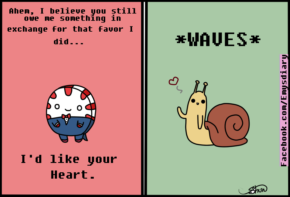 Valentines Card Peppermint butler and the Snail by EmilysDiary