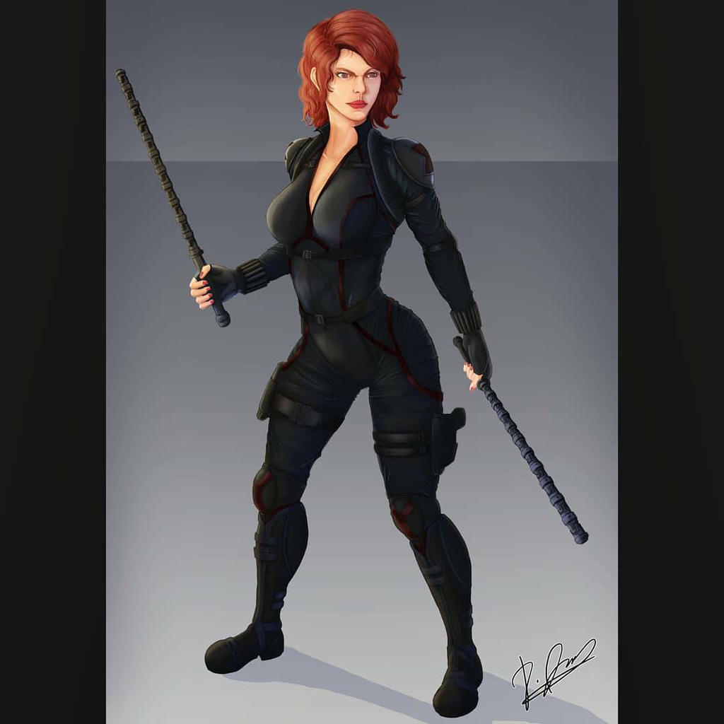 Black Widow Natasha Romanoff Marvel Comics By Jandipopo