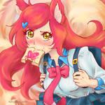 Academy Ahri and her anime toast