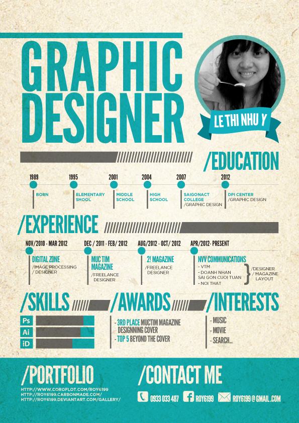cv graphic designer by roy6199 - Graphic Designer Resume