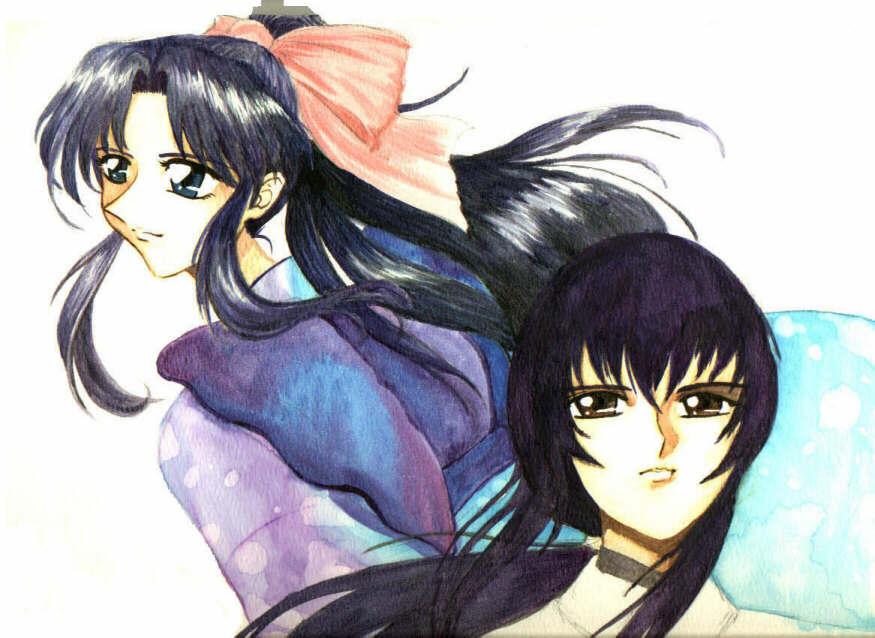 Kaoru and Tomoe by Tenshi-Androgynous