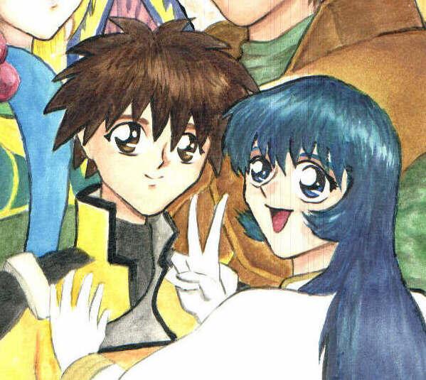 Birthday pic- Yurika and Akito by Tenshi-Androgynous