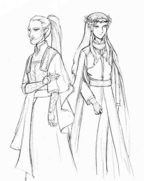 Cirdan and Thranduil by Tenshi-Androgynous