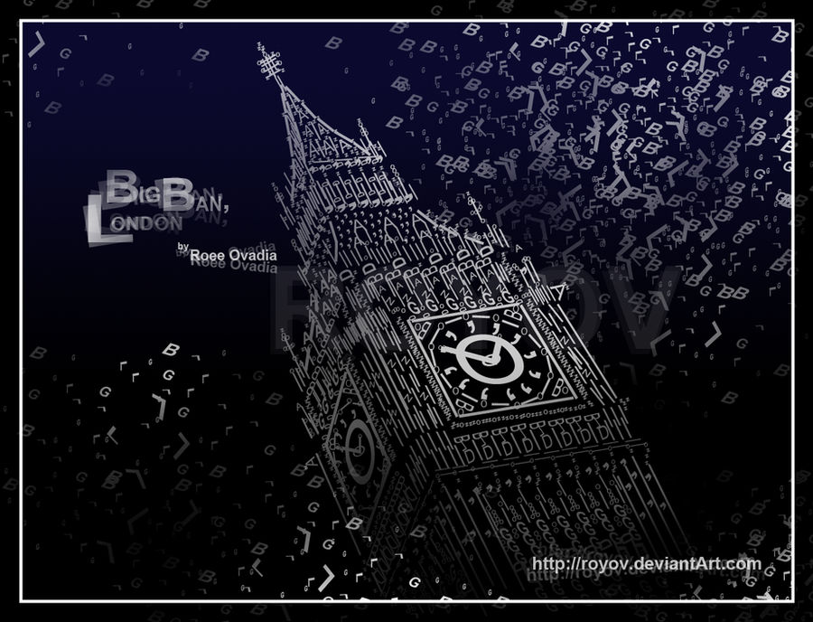 Typography :: Big Ban, London