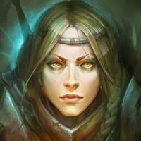 Female Knight by maxprodanov