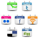 Calendar social icons free