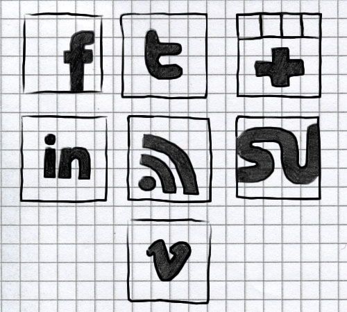 Hand-drawn social icons FREE by NatalyBirch