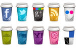 FREE Social Icons - Takeout Coffee Cup