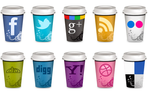 FREE Social Icons - Takeout Coffee Cup by NatalyBirch