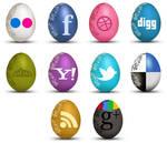 FREE Set of Egg-Shaped Social Icons