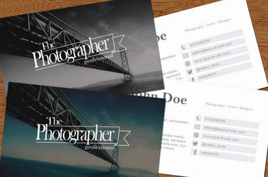 FREE Photography Business Card PSD by NatalyBirch