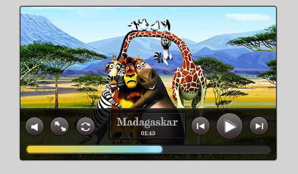 FREE Dark Video Player PSD Template by NatalyBirch
