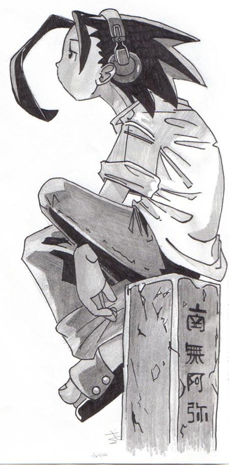 Yoh Asakura - inked by raynne