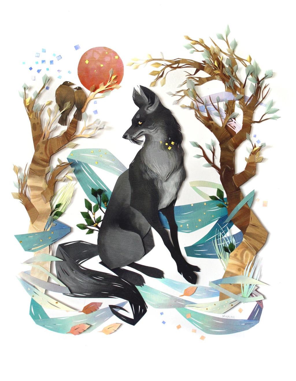 Silver fox by plutonia