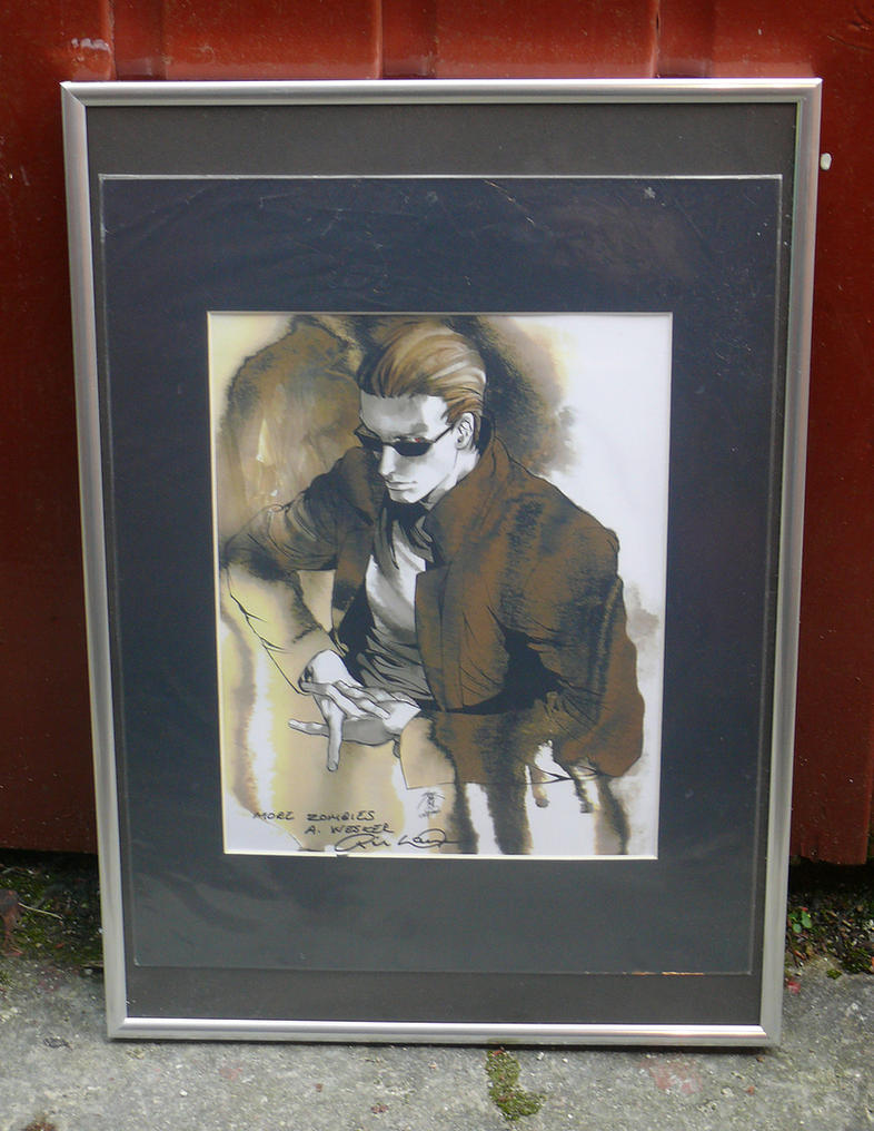 Albert Wesker Lithograph by RedDevil00