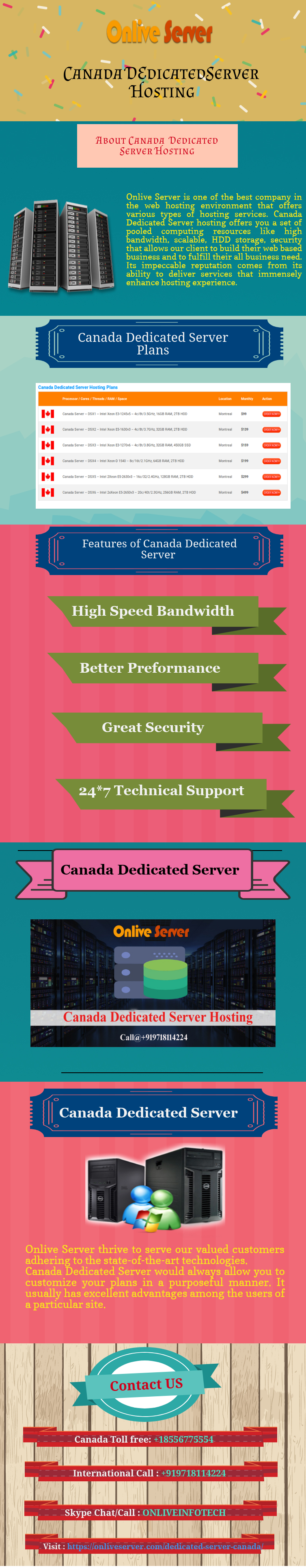 Canada Dedicated Server Hosting Plans by upasanaonlive on
