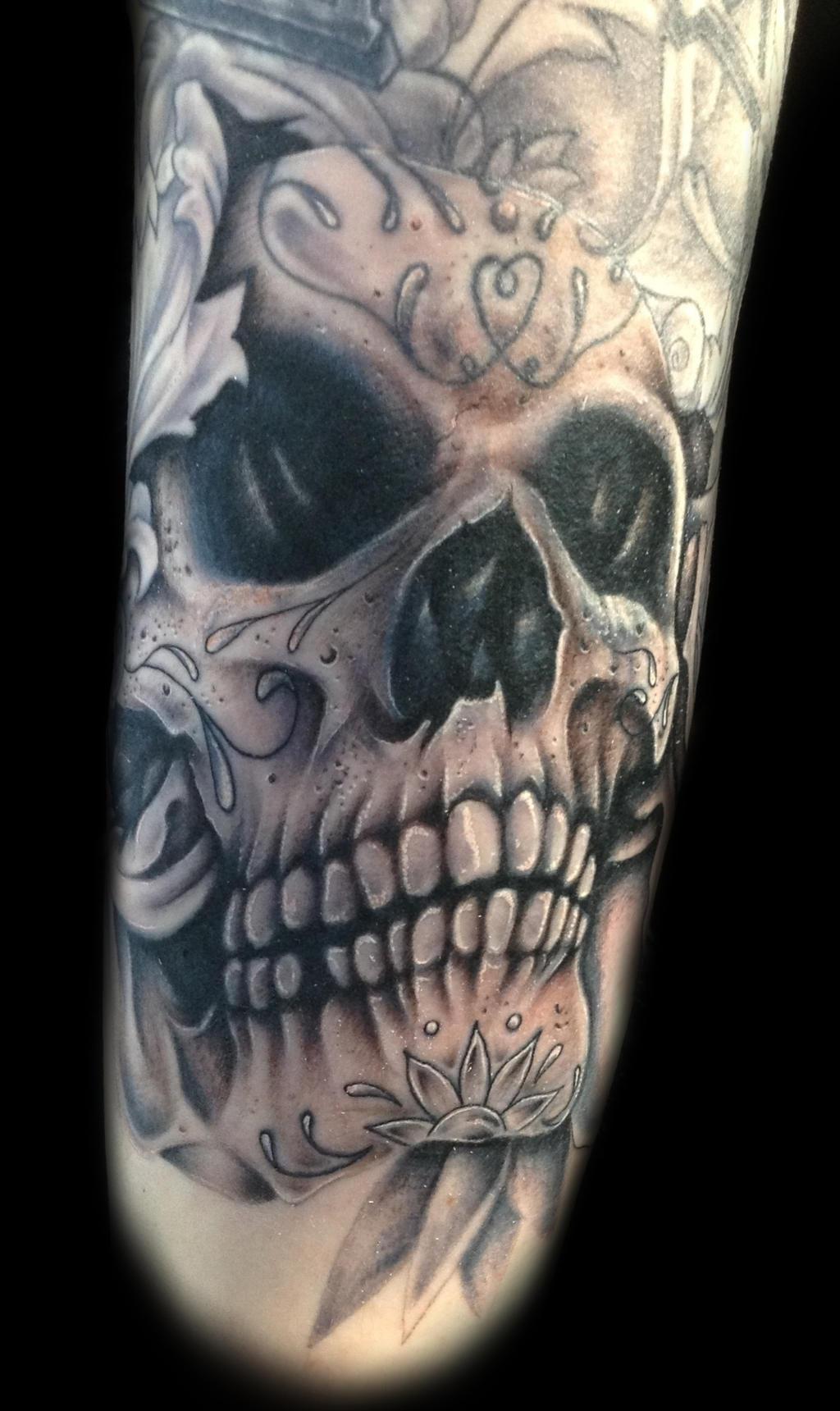 Triple H King Of Kings Skull Tattoo