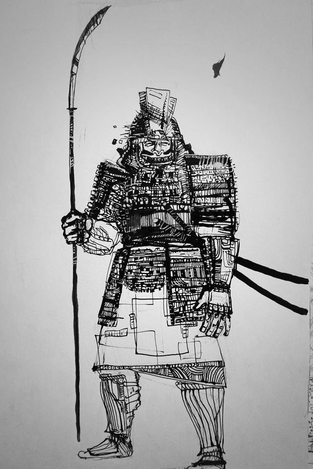 Samurai pike-man by smallblackbook