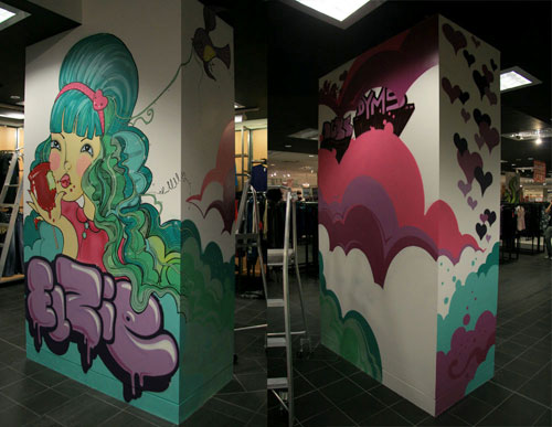 Myer Chermside mural by elanamullaly