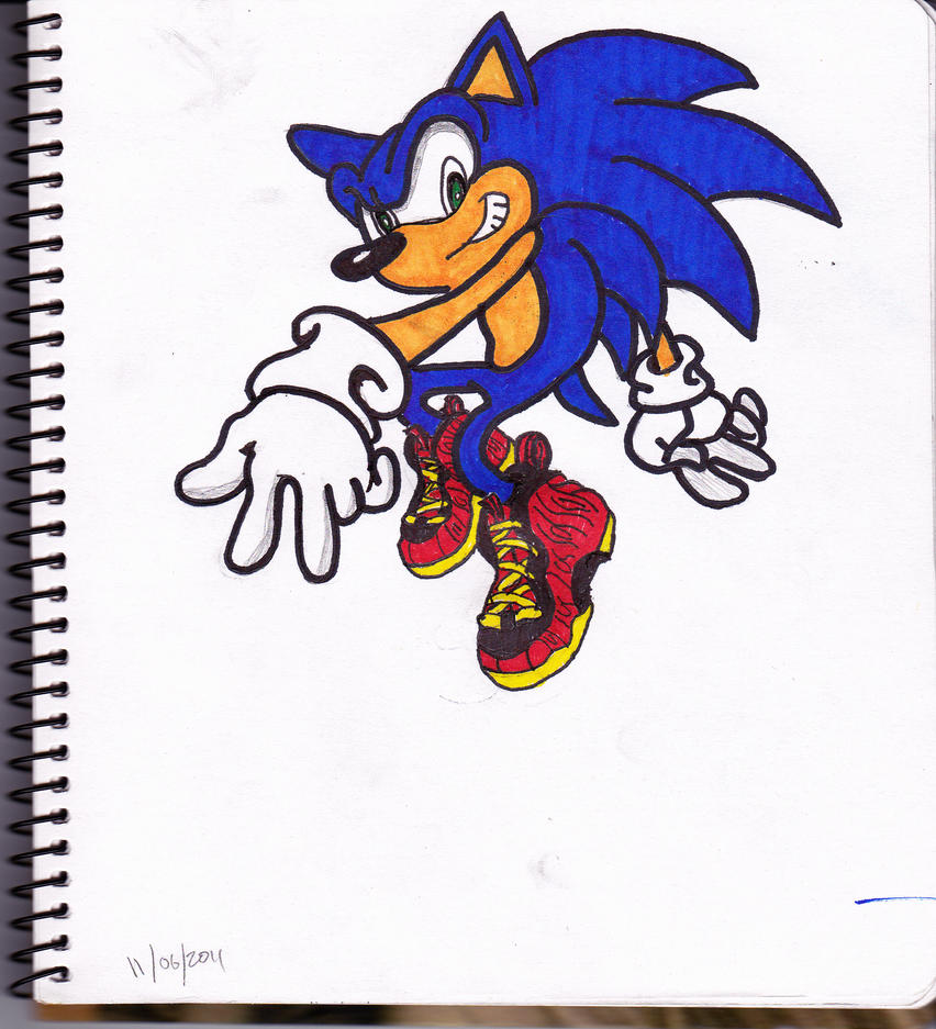 Drawings Of Foamposites Sonic with custom foamposites