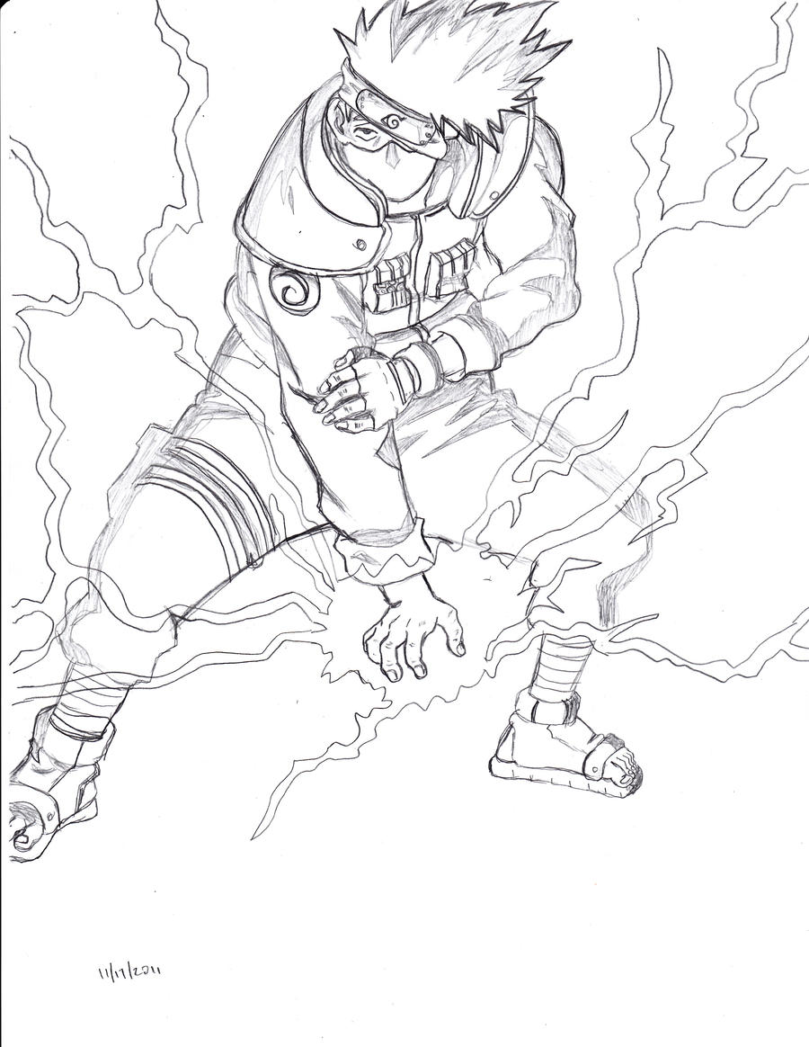 kakashi chidori by ShadowStormTrooper on DeviantArt