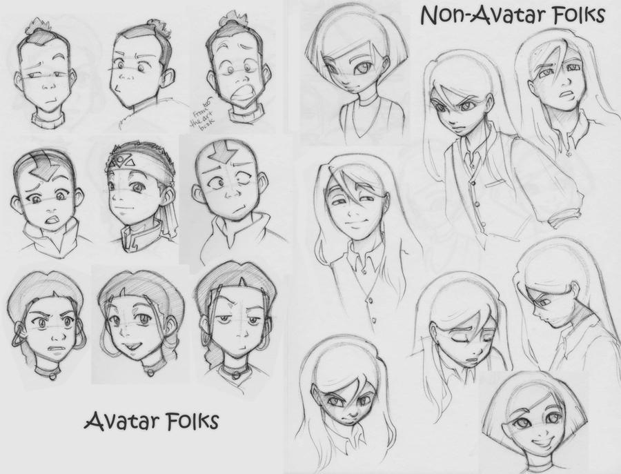 Avatar and misc sketches by mree