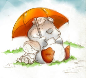 Penguin's Umbrella by mree