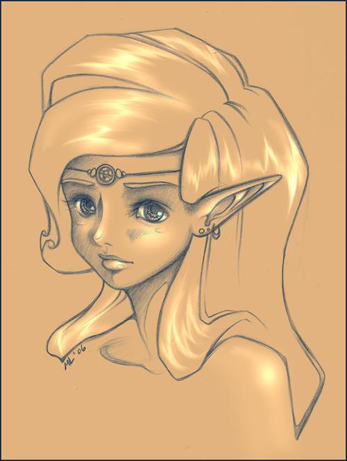 Girl in Poofy Hair by mree