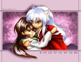 Inuyasha and Kagome upset-ish by mree