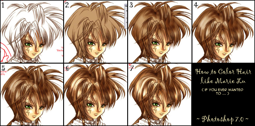 How To Color Hair Mree Style By Mree On Deviantart
