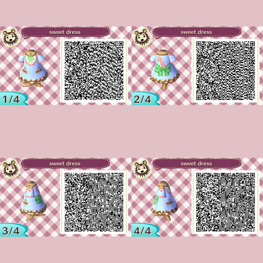 Animal crossing new leaf/ sweet dress QR code by ...