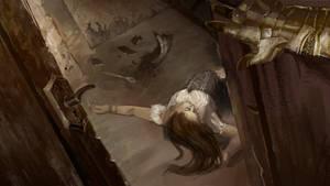 Crack of the door by Mariana-Vieira