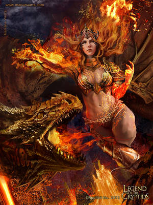 Lava Queen of the War-torn Maelstrom - Advanced by Mariana-Vieira