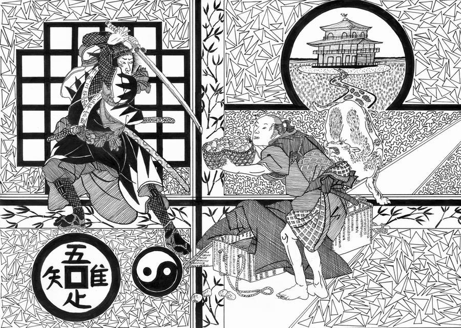 Ukiyo-e IV by mib4art