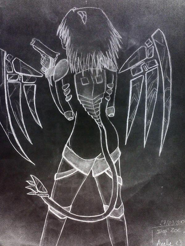 TBK s'essaye aussi au dessin, meme si c'est pas encore ca XD Evangelion_and_Z_O_E__by_Karinui