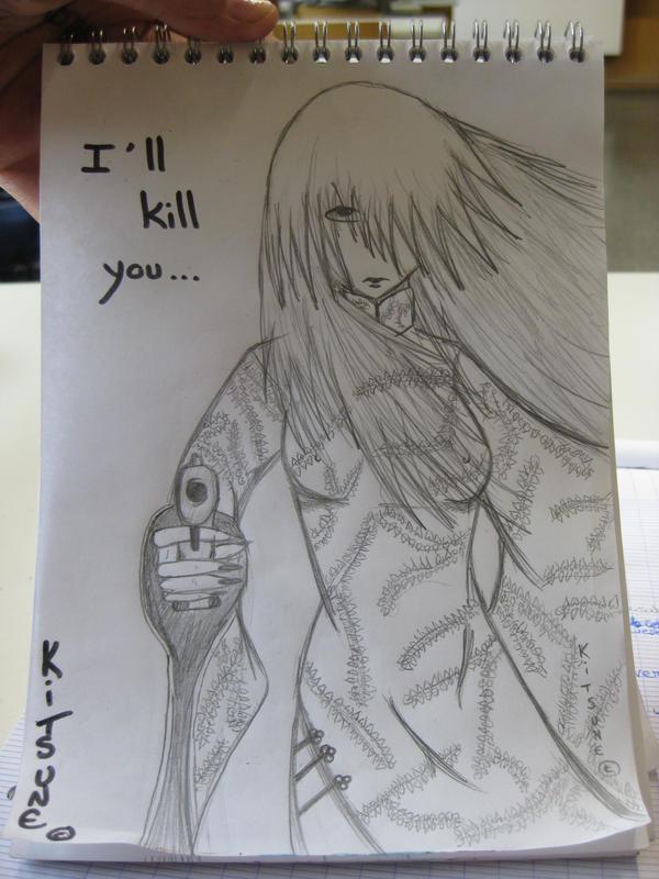 TBK s'essaye aussi au dessin, meme si c'est pas encore ca XD I_will_kill_you_____stupid_by_Karinui