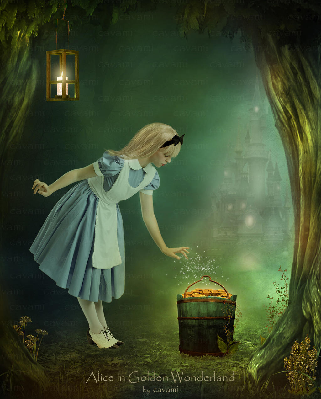 Alice in Golden Wonderland by CaryAndFrankArts