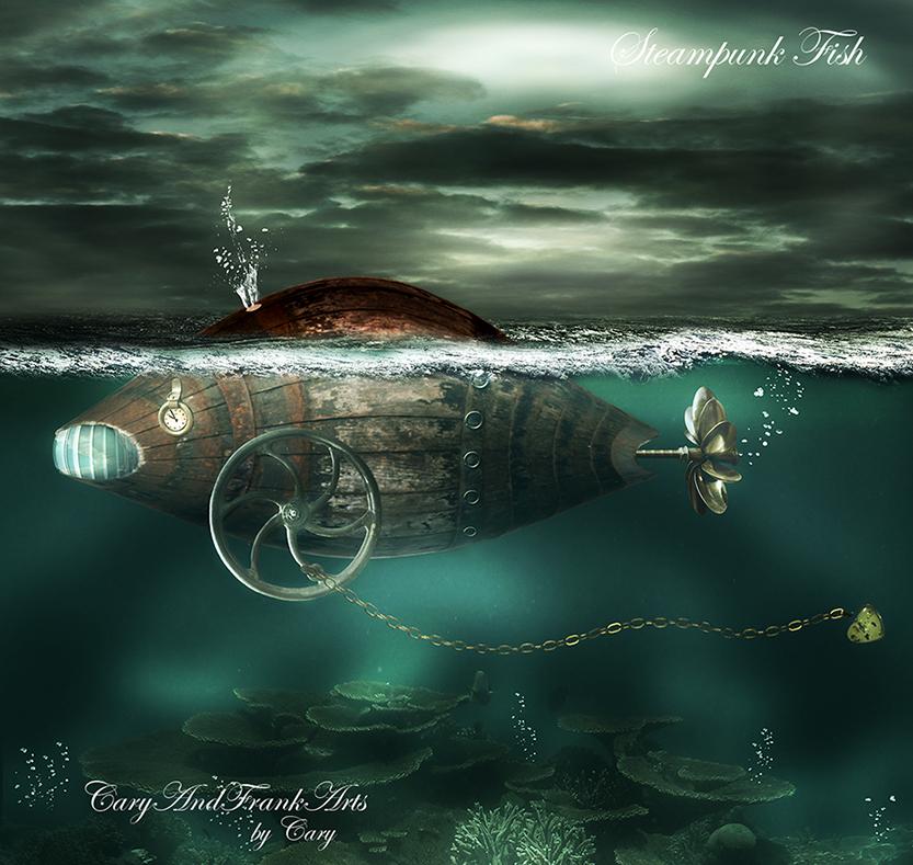 Steampunk Fish by CaryAndFrankArts