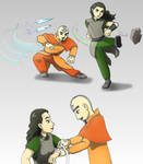 Lin and Tenzin 'old times'