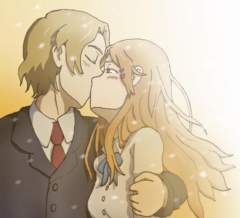 Yoshifumi Aoki - Yui Kiriyama kiss Kokoro Connect by Bizmarck