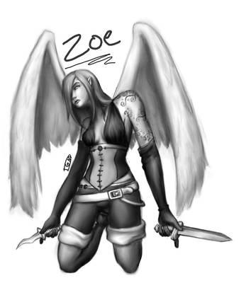 Zoe -Aasimar Rogue