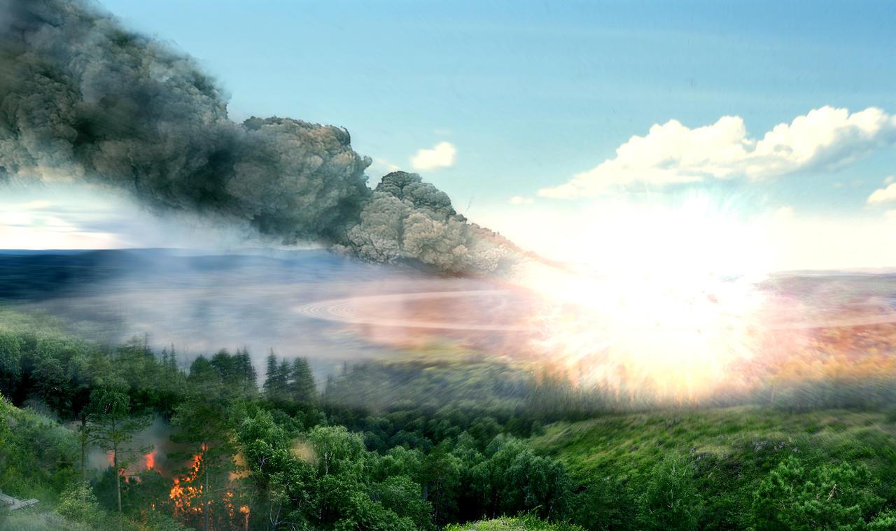 Tunguska meteor by batkya