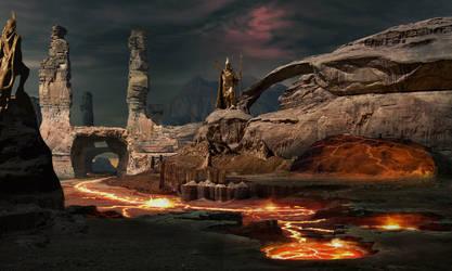 Fire canyon by batkya