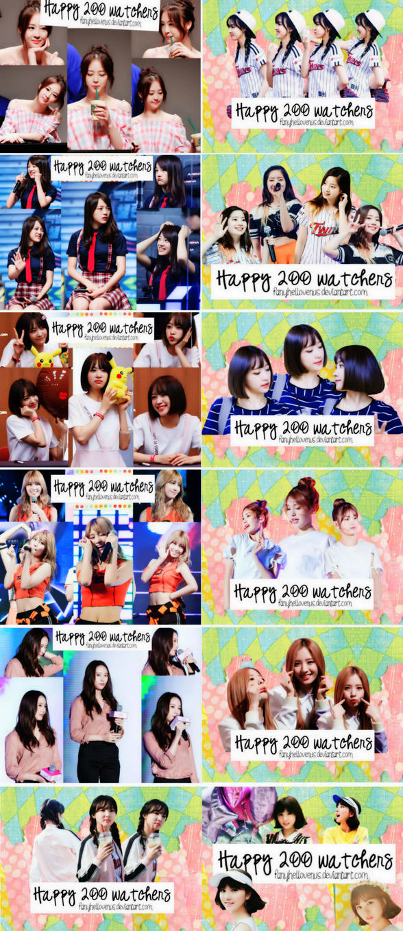 {PACK SHARE} HAPPY 200 WATCHERS (1) by fanyhellovenus