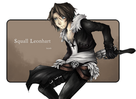 Final Fantasy: Squall Leonhart by larynth